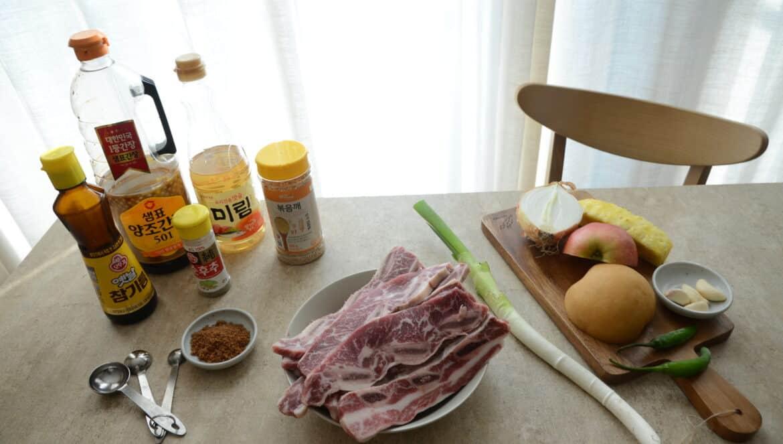 韓式牛小排食材