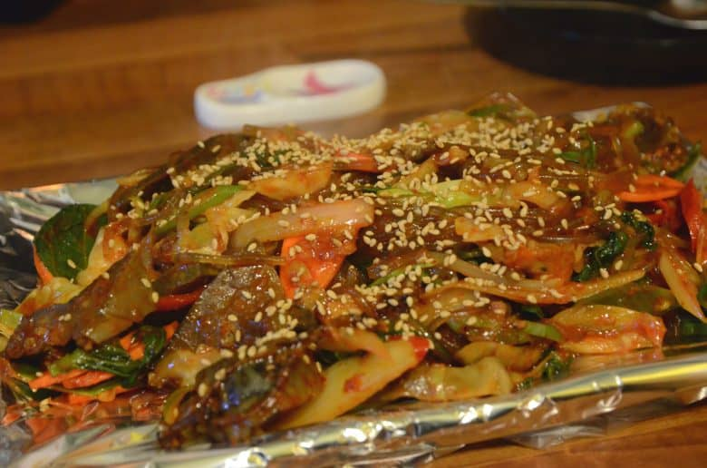 韓國小吃-韓式炒血腸