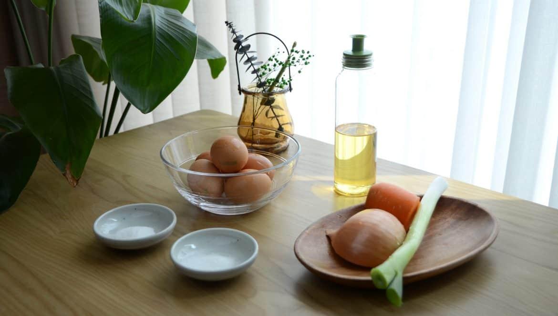 韓式雞蛋卷食材