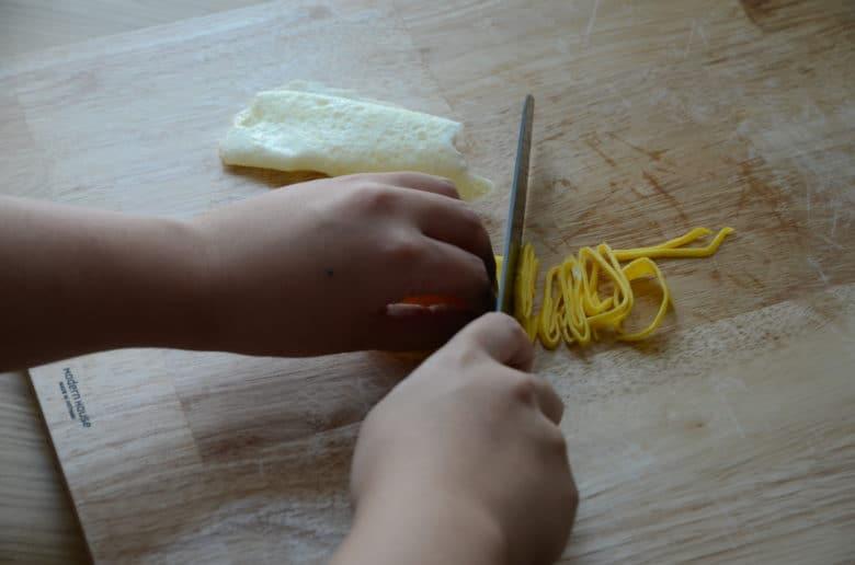 雞蛋絲製作