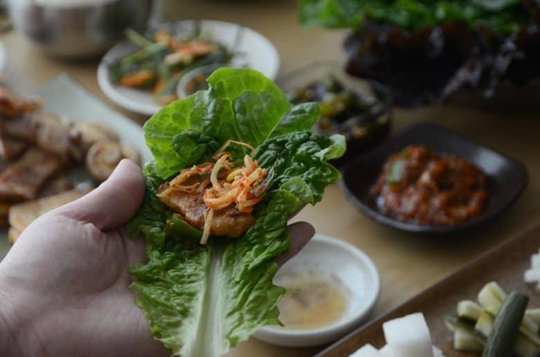 韓國烤肉包著吃