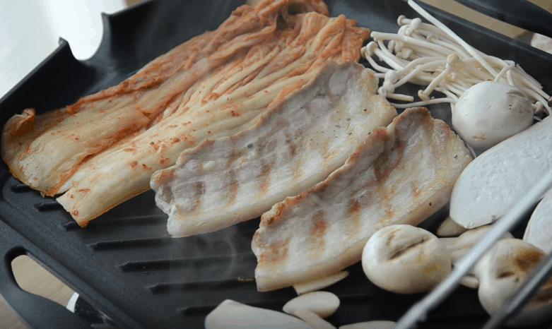 韓式烤五花肉吃法