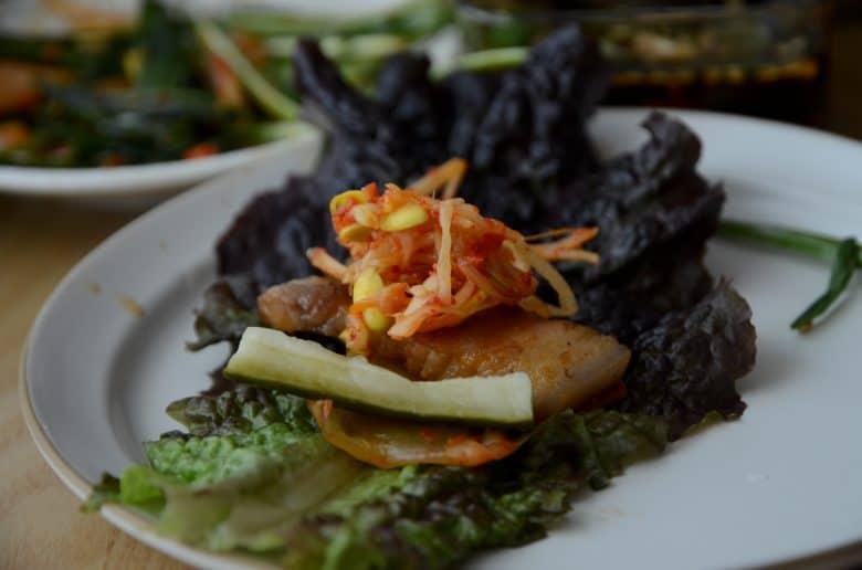 韓式烤肉包著吃