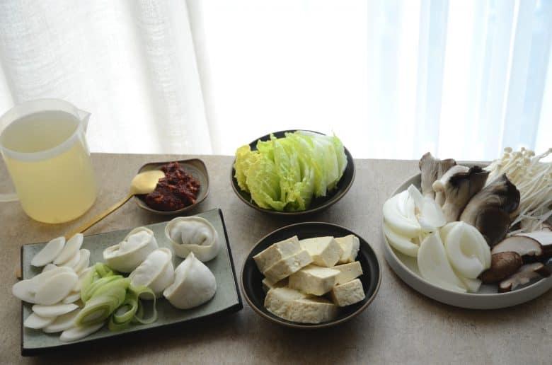 韓式餃子火鍋食材準備