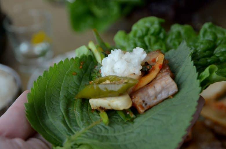 韓國烤肉吃法