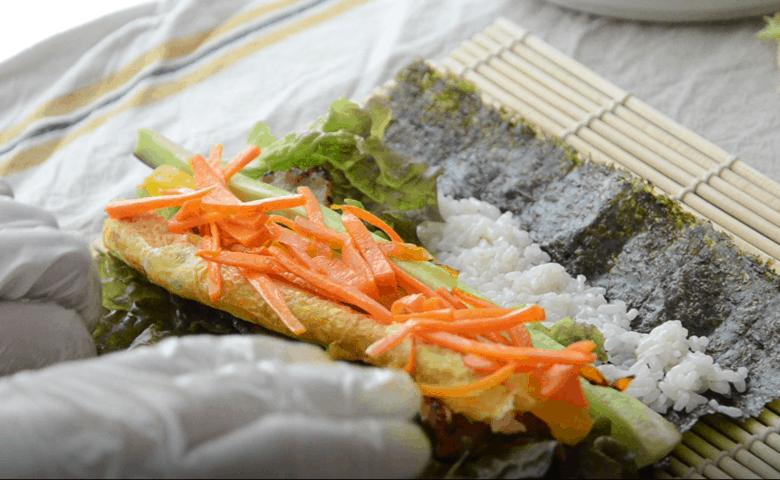 簡單韓式紫菜包飯做法