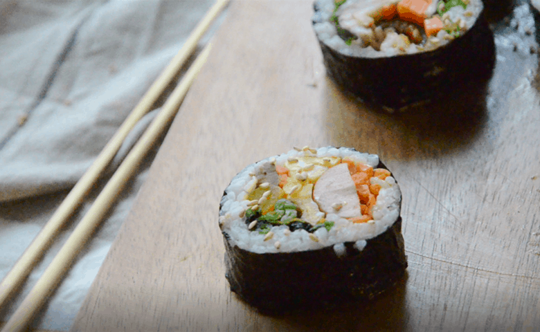 韓式紫菜包飯-包熱狗做法