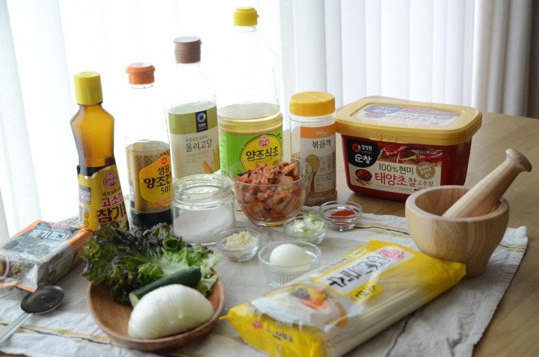 韓式拌冷麵食譜材料