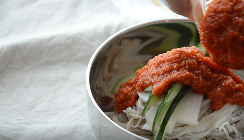 韓式辣拌冷麵做法