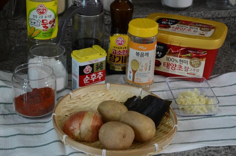 韓式醬燒馬鈴薯食材