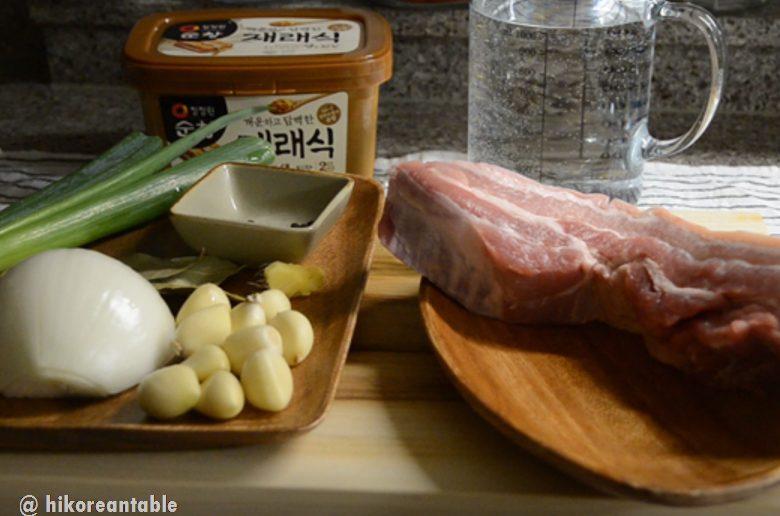 韓式菜包肉食材