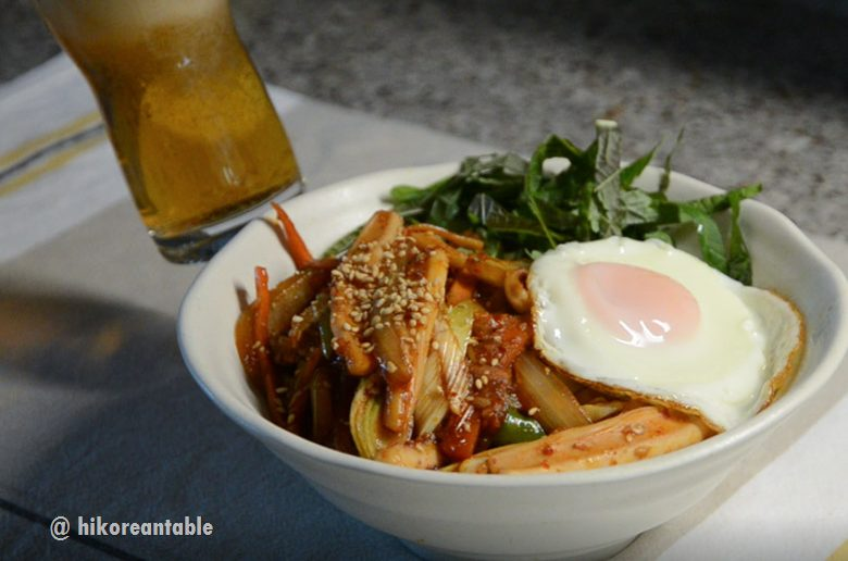辣炒魷魚蓋飯食譜