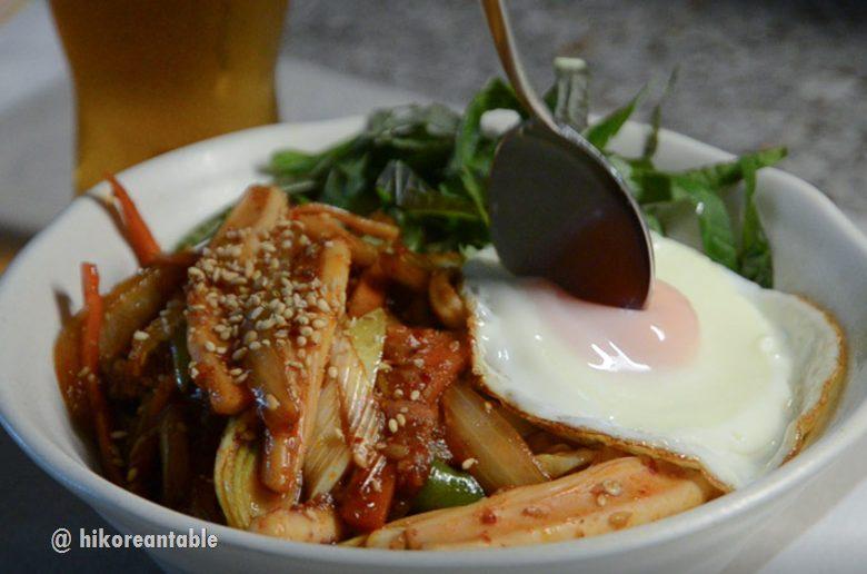 辣炒魷魚蓋飯