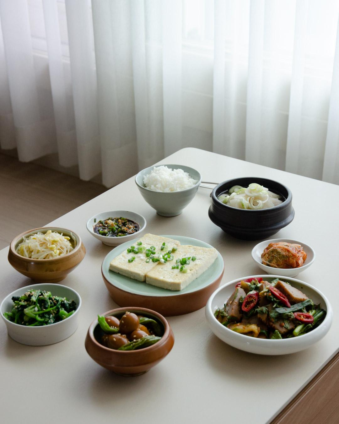 韓食飯桌你好