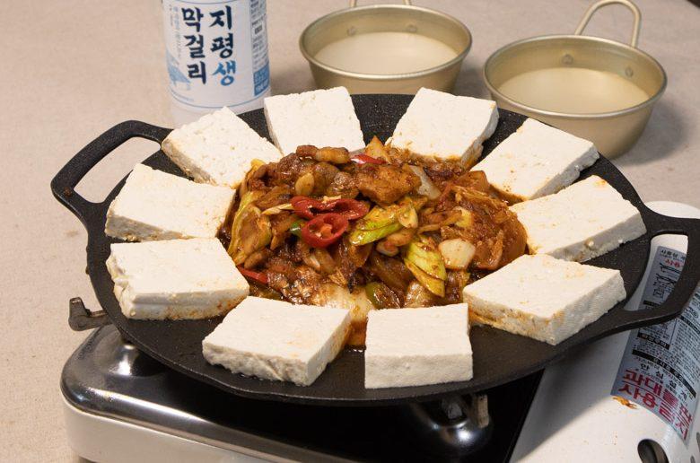 泡菜五花肉豆腐