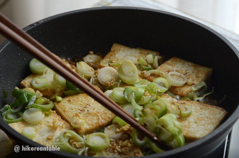 蔥花醬燒豆腐
