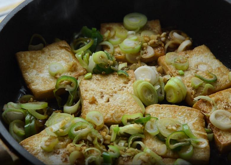 韓式蔥花醬燒豆腐